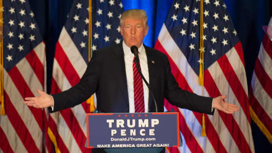 Republican candidate for President Donald Trump holds a campaign event at the Kilcawley Center at Youngstown State University on August 15, 2016 in Youngstown, Ohio.