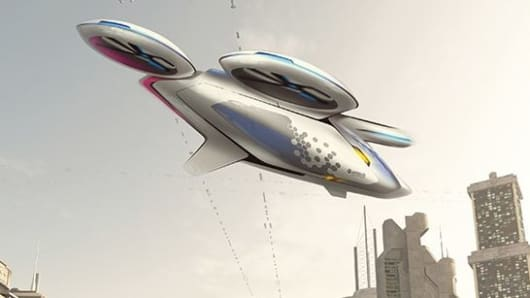 Artist's impression of the multipropeller CityAirbus vehicle