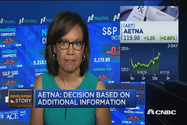Aetna: Obamacare move not related to DOJ lawsuit