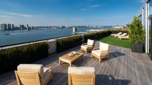 Roof deck's are an important amenity at new apartment buildings in New York City.