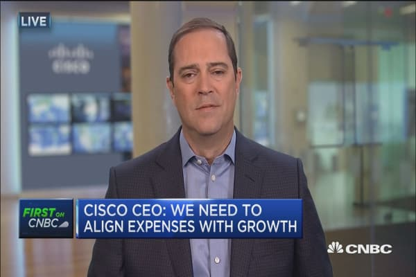 Cisco CEO on layoffs
