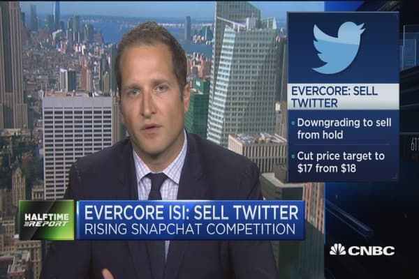 Evercore ISIS: Sell Twitter as competition rises from Snapchat