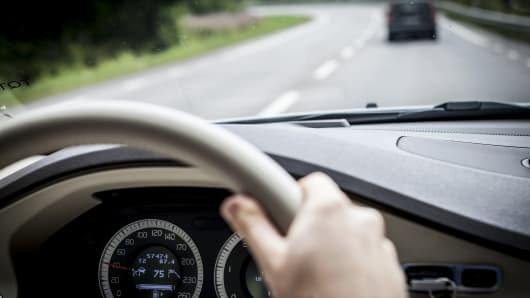Steering wheel, driving