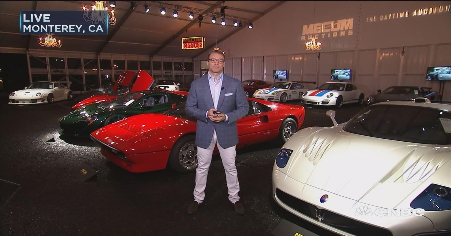 Pebble Beach car auctions top $400 million