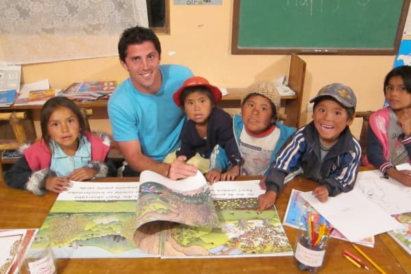 Gareth Leonard teaching in Bolivia.