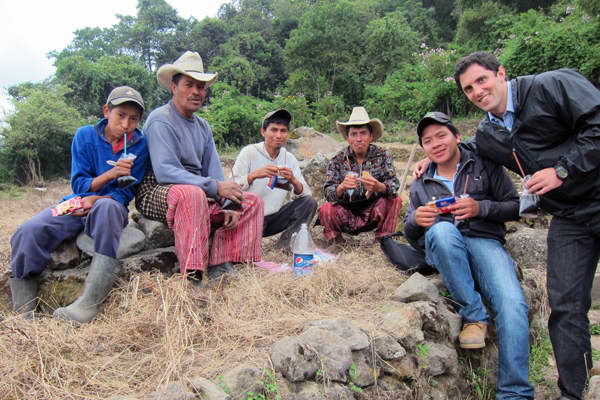 The travel blogger has also worked with Kiva, a non-profit lending company while abroad.