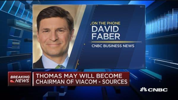 Thomas May to become Viacom chairman: Sources