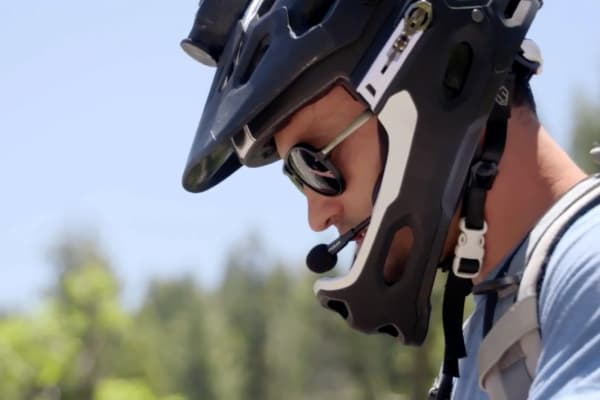 The FUSAR is a three-part kit that consists of a bluetooth headset, handlebar remote, and camera that can mount on to any helmet.