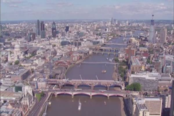 London's financial sector on edge