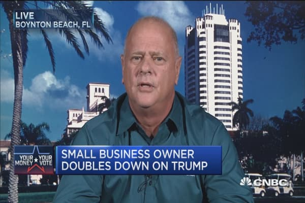 Small-biz owner doubles down on Trump