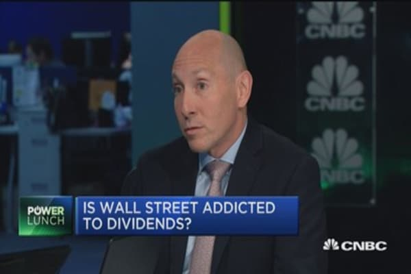 Is Wall Street addicted to dividends?