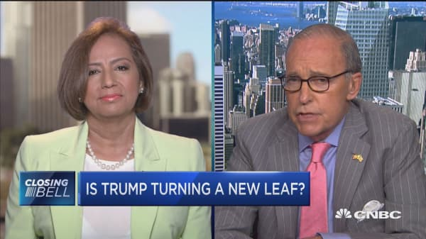 Is Trump turning a new leaf?