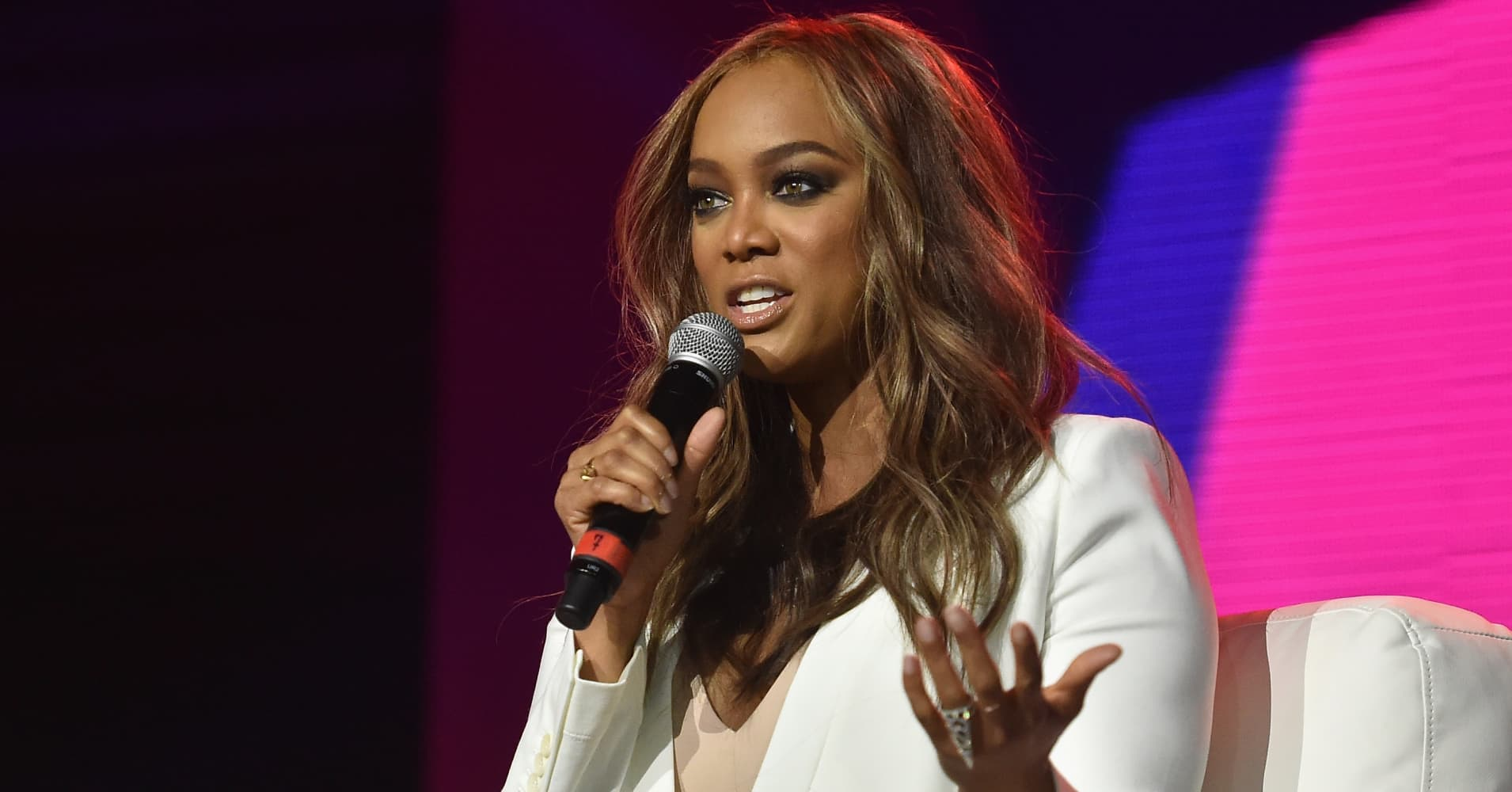 Tyra Banks speaks onstage during the 2016 ESSENCE Festival presented By Coca-Cola at Ernest N. Morial Convention Center on July 2, 2016 in New Orleans, Louisiana.