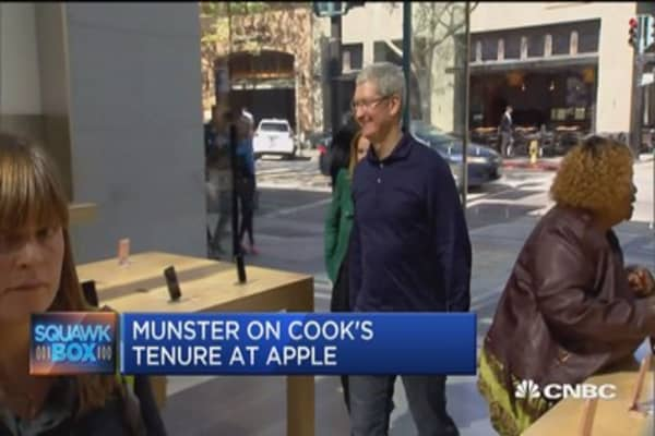 Tim Cooks marks 5th anniversary at Apple