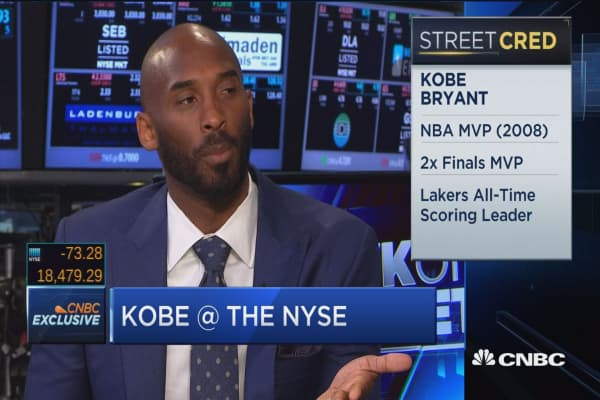 Kobe Bryant: No greater feeling than helping entrepreneurs