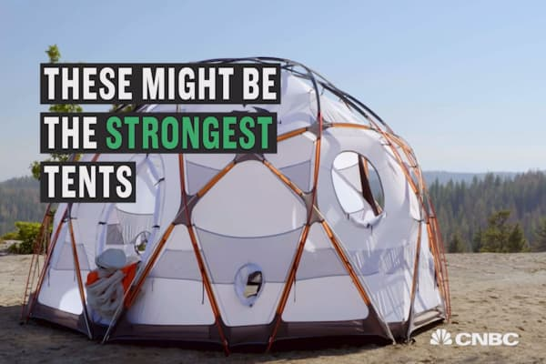 The tent that can be set up in gale-force winds