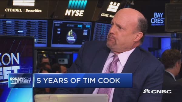 Jim Cramer says Apple's Tim Cook gets very little credit