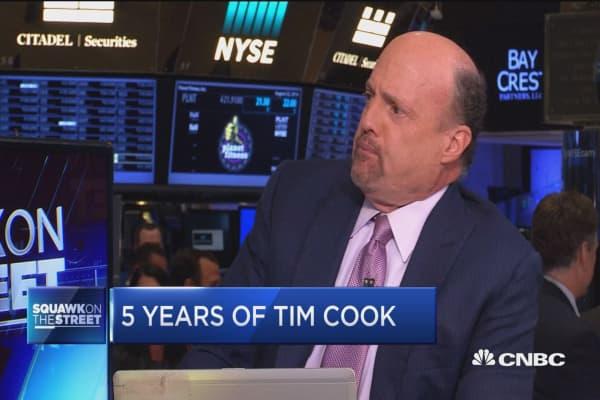 Jim Cramer says Apple's Tim Cook gets very little credit