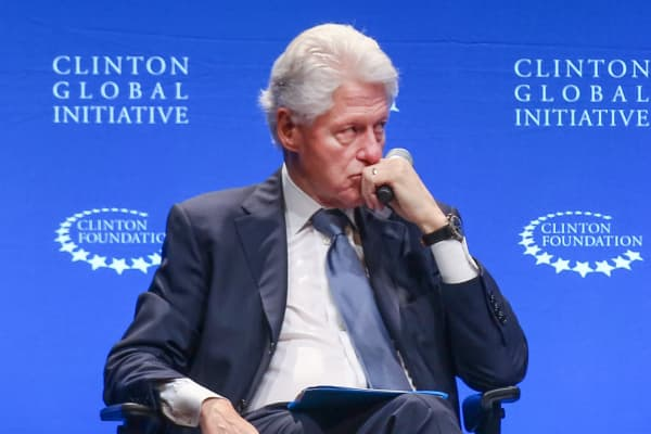 Former US President, Bill Clinton speaking during a Clinton Foundation event