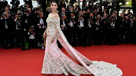Fan Bingbing at the 68th annual Cannes Film Festival on May 13, 2015 in Cannes, France.
