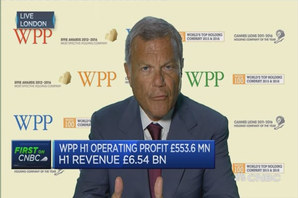 Worldwide GDP growth is tapering: WPP CEO