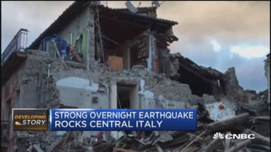 Strong earthquake kills 13 in Italy