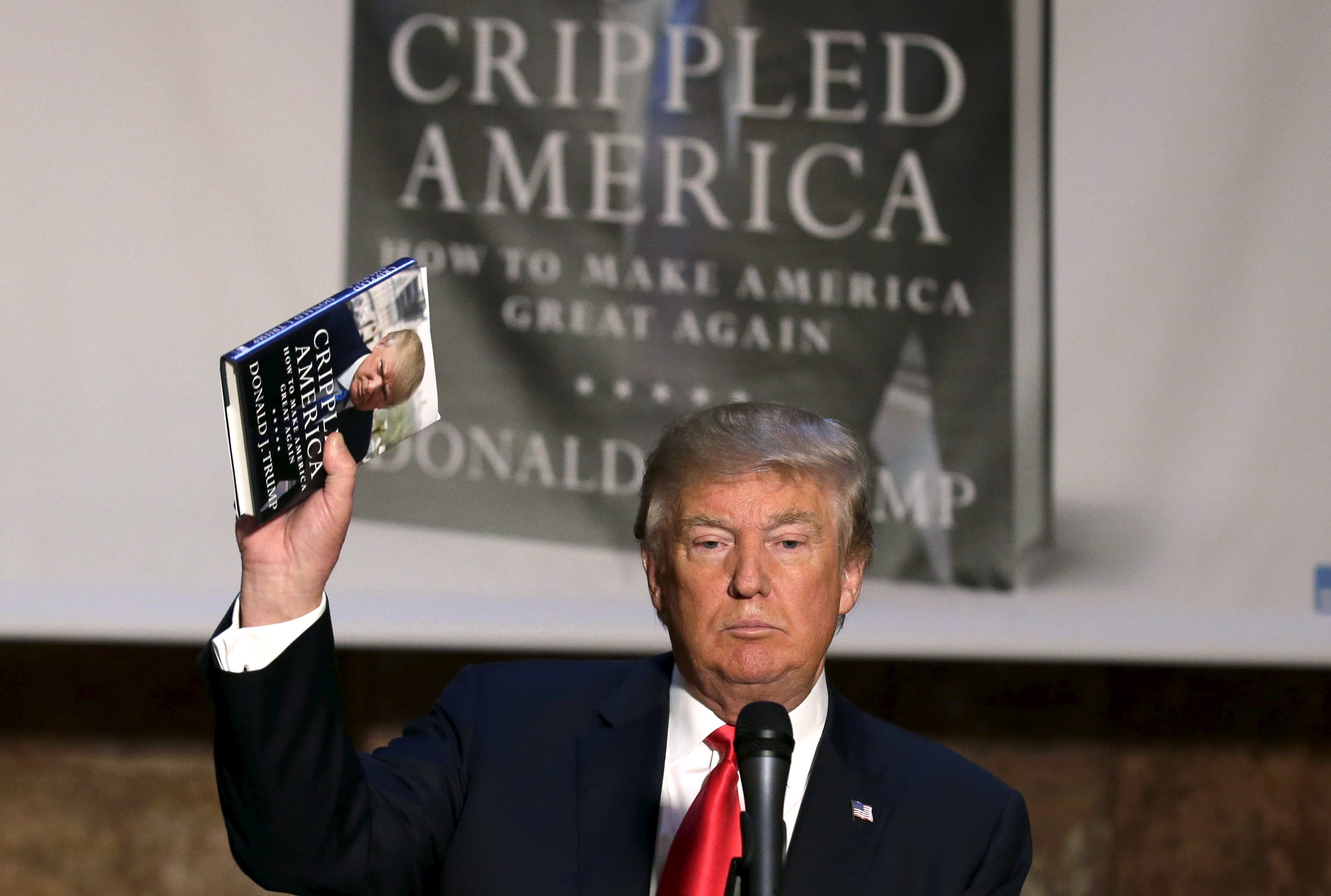 trump donald books president written read doesn become rich holds america candidates presidential selling brendan reuters mcdermid theatlantic lead atlantic