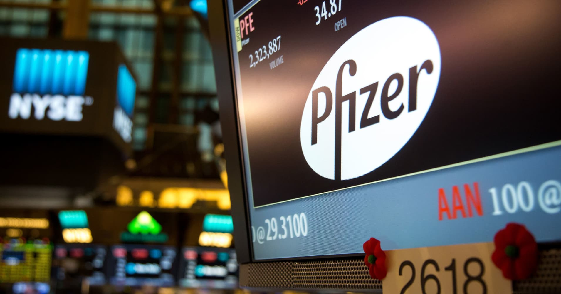 Dow stocks Pfizer and UnitedHealth could be safety plays amid market volatility