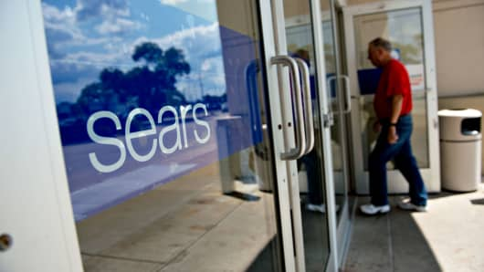 A shopper enters a Sears store in Peoria, Illinois.