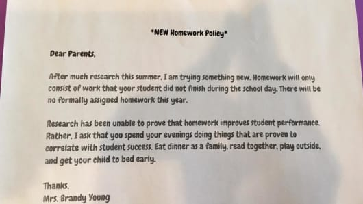 New Homework policy