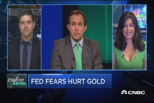 Fed fears hurt gold