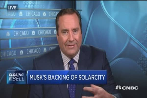 Musk's backing of SolarCity