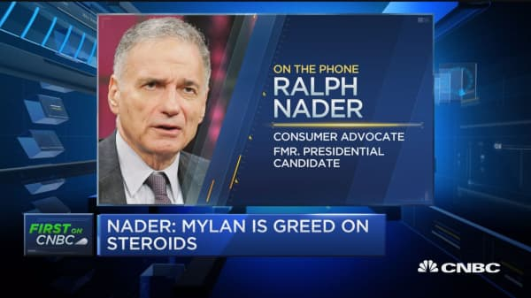 Nader: Mylan is 'greed on steroids'