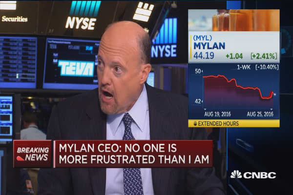 Cramer comments on Mylan pricing annoucement
