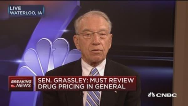 Sen. Grassley: I want a written response from Mylan