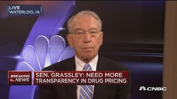 Sen. Grassley: Need more transparency in drug pricing