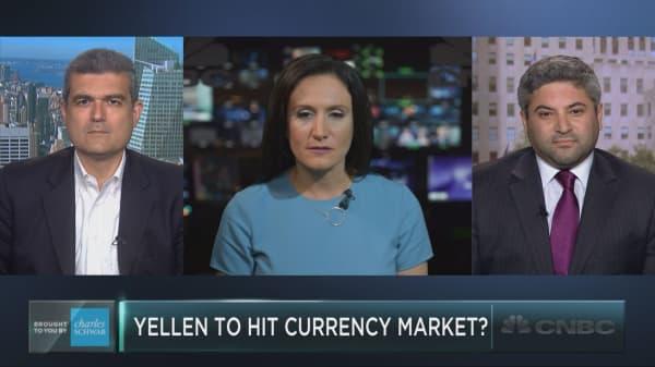 Yellen's words to hit currency market?