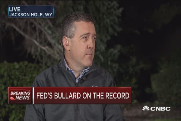 Fed's Bullard: GDP growth below trend y/y
