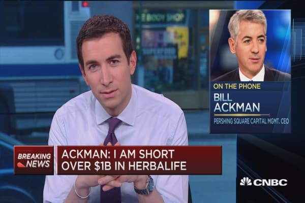 Herbalife is a confidence game: Ackman