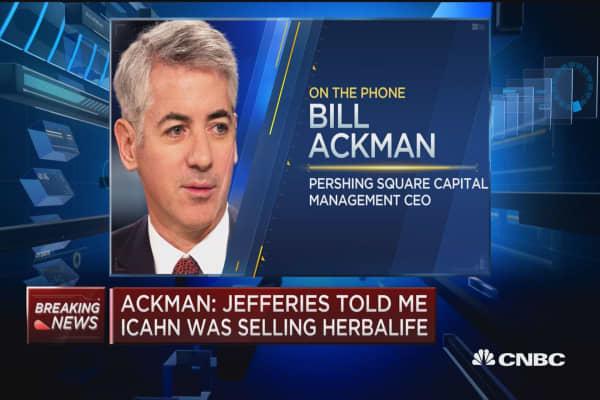 Ackman: Icahn knows Herbalife is 'toast'
