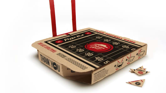 Pizza Hut Football Box