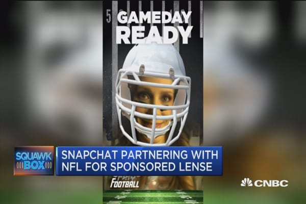 Snapchat and NFL team up