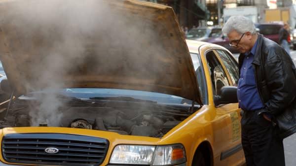 overheated car engine