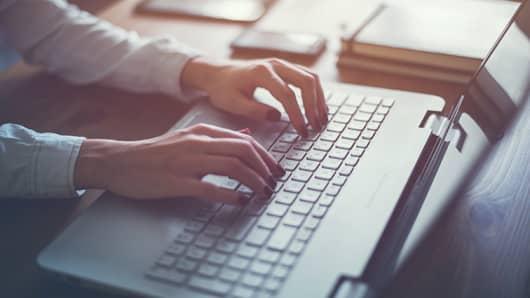 On computer, coding