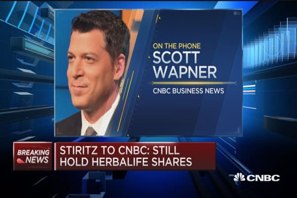 Stiritz to CNBC: Still believe in Herbalife Business