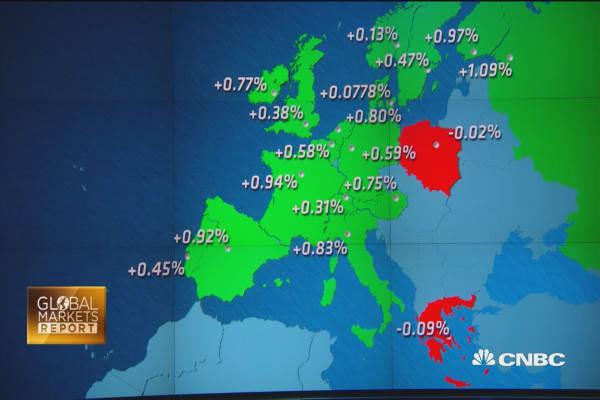 European in the green