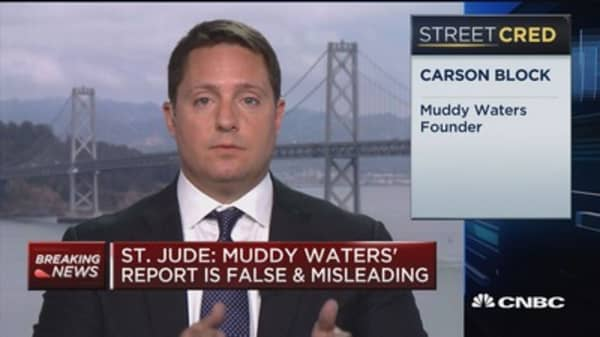 St. Jude refutes Muddy Waters' claims