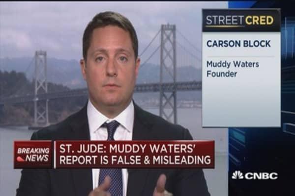 St. Jude refutes Muddy Waters' claims