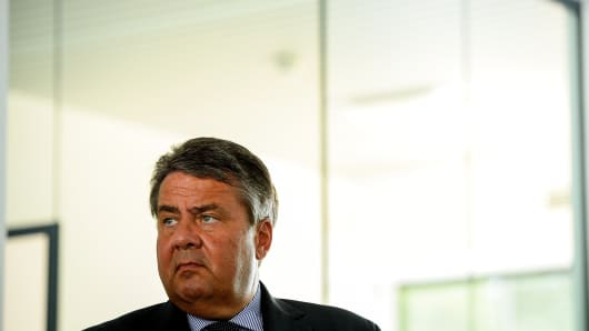German Vice Chancellor and Economy and Energy Minister Sigmar Gabriel