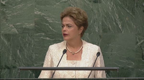 Brazil's Rousseff defends herself before the Senate